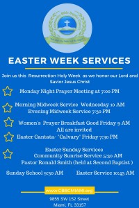 CBBC Easter Services